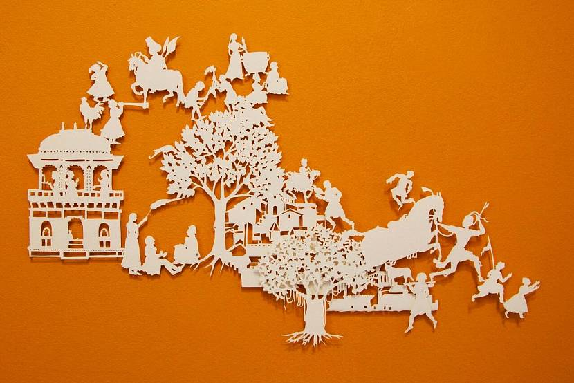 Декор стен из бумаги