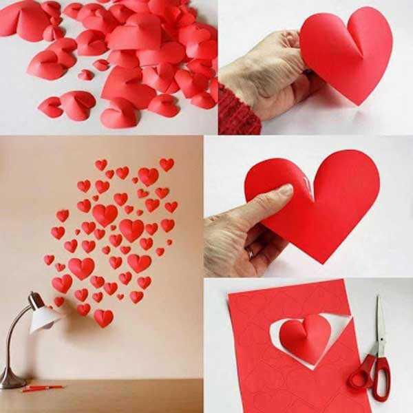 Украшение для стены - сердечки