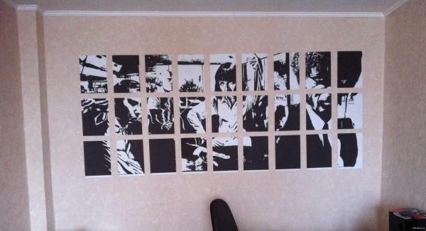 Фото на стене в виде коллажа