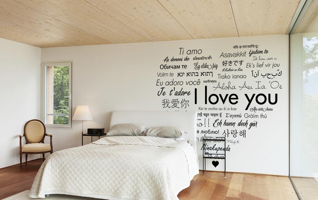 Наклейки на стене в спальне