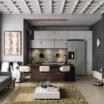 Интерьер кухни-гостиной: фото примеров в частном доме и квартире